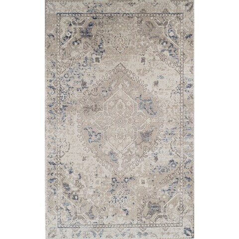 "ADDISON Wellington Antique Medallion Beige/Brown Area Rug (3'3""X5'3"")"