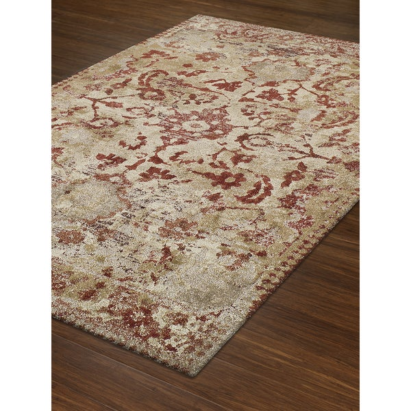 Persian Rugs Wellington: Shop Addison Wellington Distressed Rust/Ivory Traditional
