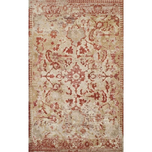 Addison Wellington Distressed Rust Ivory Traditional Area Rug 9 6 X 13 2 9 6 X 13 2 On Sale Overstock 18536863