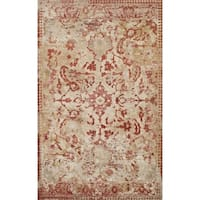 Addison Wellington Distressed Rust/Ivory Traditional Area Rug (9'6 x 13'2)