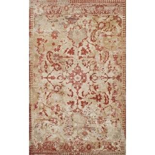 Addison Wellington Rust/Ivory Distressed Traditional Area Rug (7'10 x 10'7)