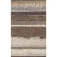 Addison Wellington Landscape Brown/Ivory Polypropylene Area Rug (9'6 x 13'2)