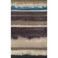 Addison Rugs Wellington Brown/ Blue Landscape Horizontal Area Rug (9'6 x 12'2)