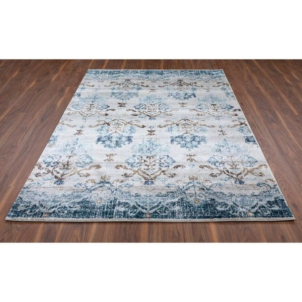 Addison Rugs Wellington Nottingham Navy Ivory Area Rug
