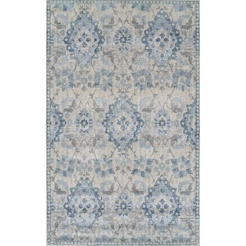 """ADDISON Wellington Palace Blue/Ivory Area Rug (3'3""""X5'3"""")"""