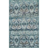 "ADDISON Wellington Palace Midnight/Blue Area Rug (3'3""X5'3"")"