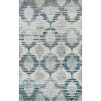 "ADDISON Wellington Trellis Blue/Gray/Ivory Area Rug 7'10""X10'7"""