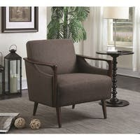 Enderby Woven Fabric Mid-Century Accent Chair