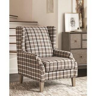 Alberni Fabric Rustic Plaid Accent Chair