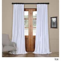 Exclusive Fabrics Faux Silk Extra-wide Blackout Curtain in 96'L in Ice (As Is Item)