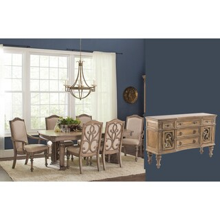 Westchester 8-piece Ash Linen Finish Dining Set