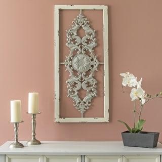 Stratton Home Decor Grey Scroll Panel Wall Decor