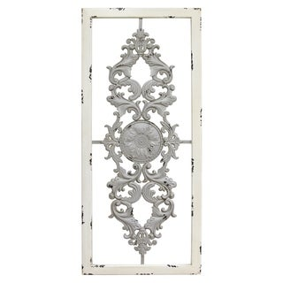 Stratton Home Decor Grey Scroll Panel Wall Decor (As Is Item)