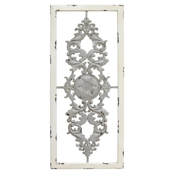 323f6f5b45 Shop Stratton Home Decor Grey Scroll Panel Wall Decor - Free ...