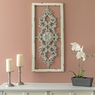 Stratton Home Decor Grey Scroll Panel Wall Decor