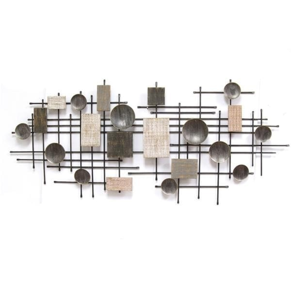 Shop Stratton Home Decor Metal Wood Large Industrial Wall Decor