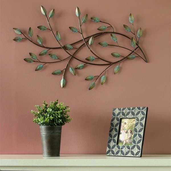 Stratton Home Decor Patina Blowing Leaves Wall Decor Overstock 18537126