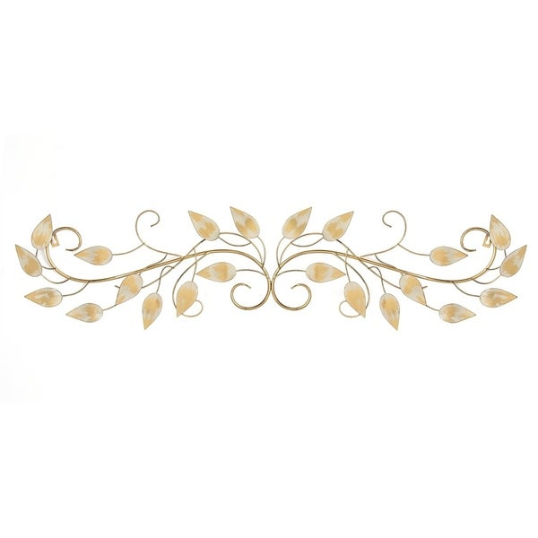 shop stratton home decor brushed gold over the door scroll wall