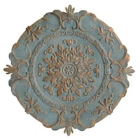 Stratton Home Decor Blue European Medallion Wall Decor