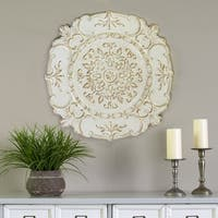 Stratton Home Decor White Metal European Medallion Wall Decor