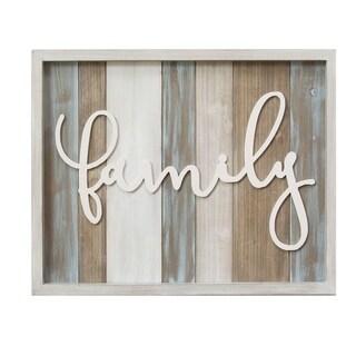 "Stratton Home Decor Rustic ""family"" Wood Wall Decor"