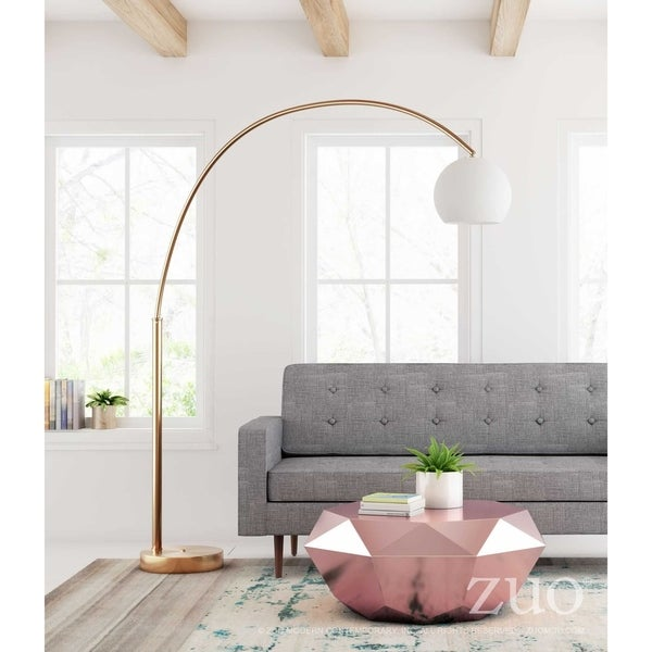 Griffith Floor Lamp Brushed Brass