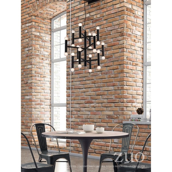 Alton Black-finished Metal 25-watt 3-tier Pendant Ceiling Lamp