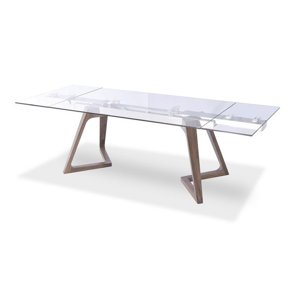 Luca Home Wooden Matt Extendable Dining Table