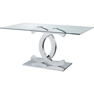 Luca Home Pedestal Base Dining Table
