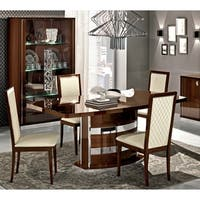 Luca Home Walnut and Chrome Table