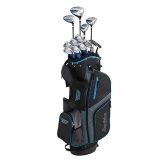 Tour Edge Senior Bazooka 360 Varsity 17 Pc. Complete Set, Black/Blue