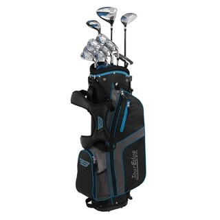 Tour Edge Bazooka 360 17 Pc. Complete Set, Black/Blue