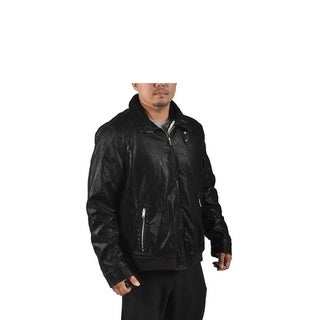 Men's Point Blanc Heavy Faux Leather Jacket