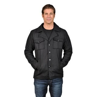 Men's Cargo Pocket Wool-Blended Jacket Black