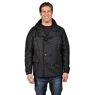 Men's Cargo Pocket Wool-Blended Jacket Black