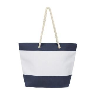 Leisureland Large Water Resistant Canvas Tote Bag (Option: Navy)