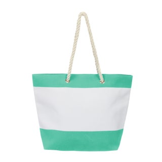 Leisureland Large Water Resistant Canvas Tote Bag (Option: Seafoam)