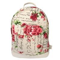 Leisureland Mini Kid's Canvas Backpack Floral Script