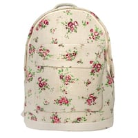 Leisureland Mini Kid's Canvas Backpack Tan Floral