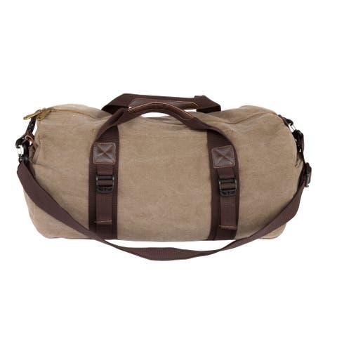 Leisureland Cotton Canvas Weekender Duffel Bag