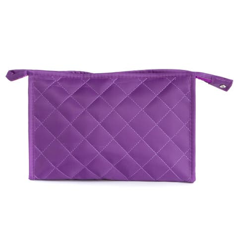 Leisureland Water Resistant Quilted Cosmetic Bag, Makeup Bag Clutch