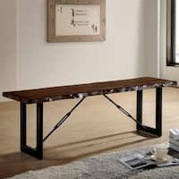 Terele Industrial 54-inch Walnut Bench by FOA