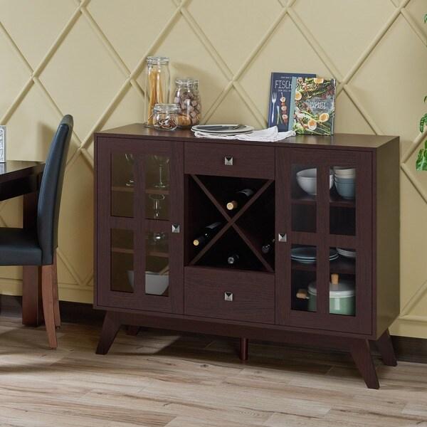 Shop Furniture Of America Vema Contemporary Brown 47-inch