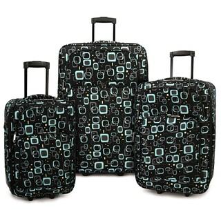 Elite Luggage Retro Square 3-piece Expandable Rolling Luggage Set