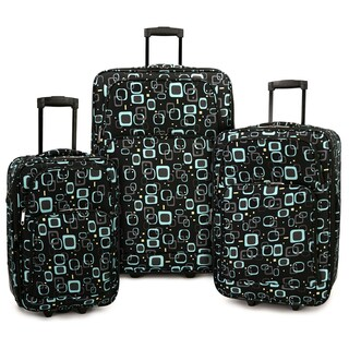 Elite Luggage Retro Square 3-piece Expandable Rolling Luggage Set