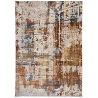 "Distressed Modern Abstract High-Low Texture Multi Area Rug - 7'7"" x 10'"