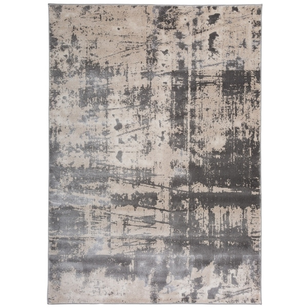 modern rug texture. Distressed Modern Abstract High-Low Texture Gray Area Rug - 7\u0026#x27;7 T