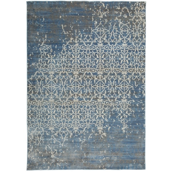 Vintage Looking Area Rugs: Shop Vintage Distressed Blue Indoor Area Rug
