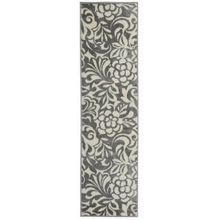 Contemporary Large Floral Design Runner Rug - 1'10 x 7'