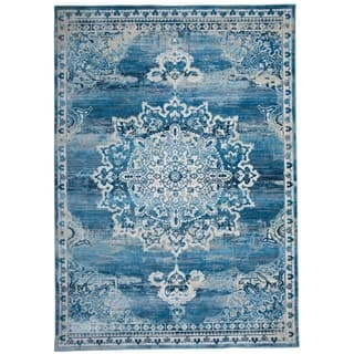 Blue Area Rug Traditional At Overstock Com